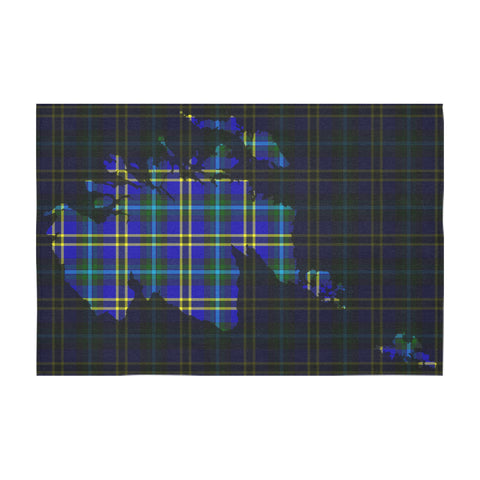 Weir Modern Tartan Map Tablecloth