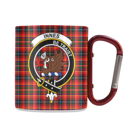 Image of Innes Modern Tartan Mug Classic Insulated - Clan Badge | scottishclans.co