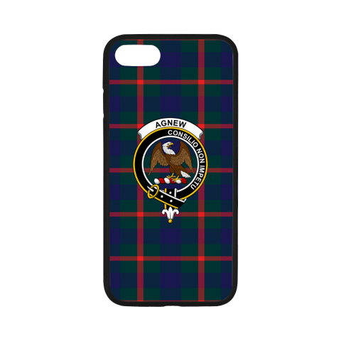 Agnew Tartan Clan Badge Rubber Phone Case TH8