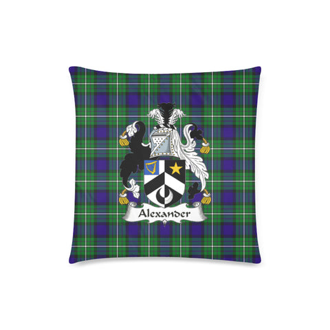 Alexander Tartan Crest Pillow Cover
