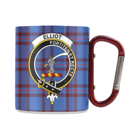 Elliot Modern Tartan Mug Classic Insulated - Clan Badge | scottishclans.co