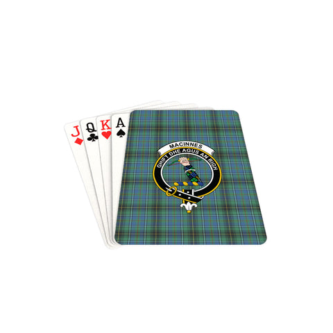 MacInnes Ancient Tartan Clan Badge Playing Card TH8