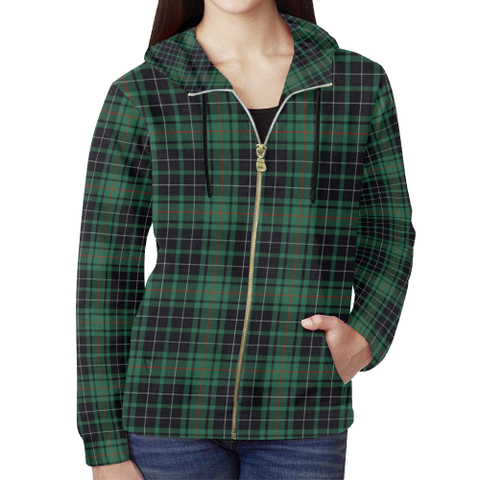 MacAulay Hunting Ancient Tartan Zipped Hoodie | Special Custom Products