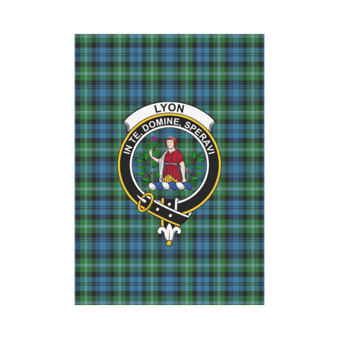 Lyon Clan Tartan Flag Clan Badge | Scottishclans.co