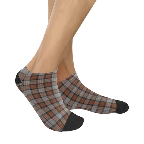 Image of Cameron of Erracht Weathered Tartan Ankle Socks K7