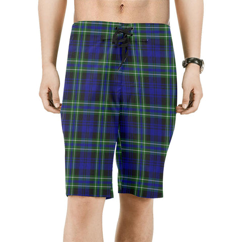 Image of Arbuthnot Modern Tartan Board Shorts | scottishclans.co