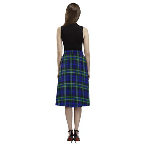 Image of Arbuthnot Modern Tartan Aoede Crepe Skirt | Exclusive Over 500 Tartan