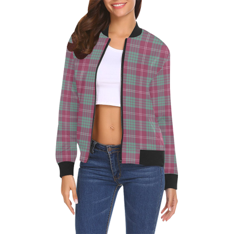 Image of Crawford Ancient Tartan Bomber Jacket | Scottish Jacket | Scotland Clothing