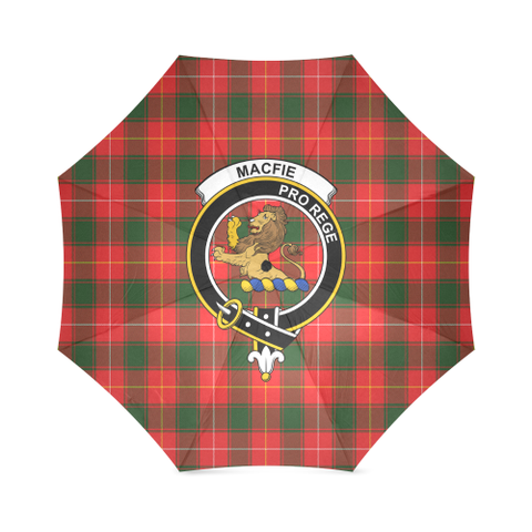 Image of Macfie Crest Tartan Umbrella TH8