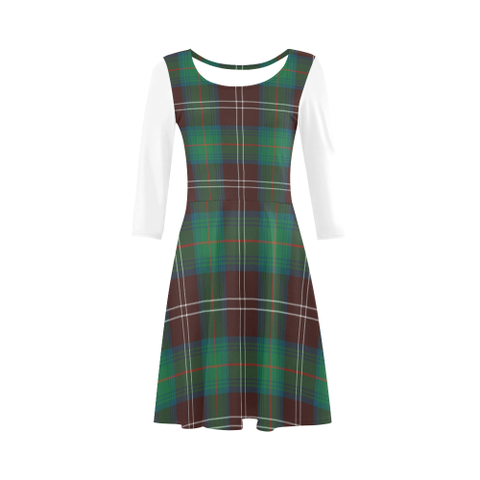 Chisholm Hunting Ancient Tartan 3/4 Sleeve Sundress | Exclusive Over 500 Clans