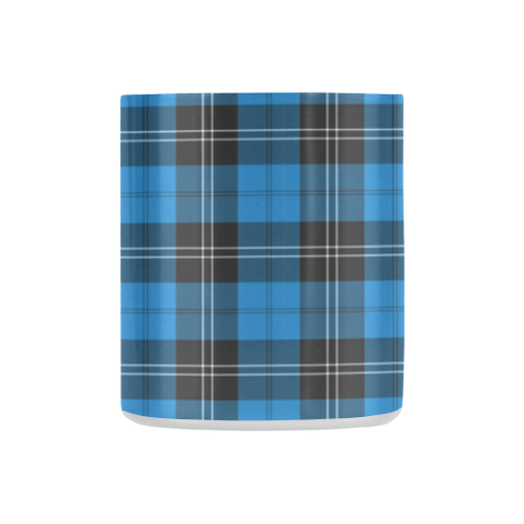 Ramsay Blue Ancient Tartan Mug Classic Insulated - Clan Badge K7