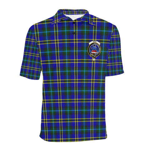 Weir Modern Tartan Clan Badge Polo Shirt HJ4