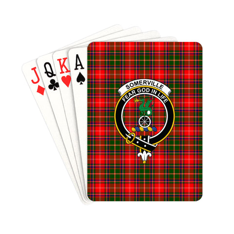 Somerville Modern Tartan Clan Badge Playing Card | scottishclans.co