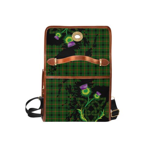 Kincaid Modern Tartan Map & Thistle Waterproof Canvas Handbag| Hot Sale