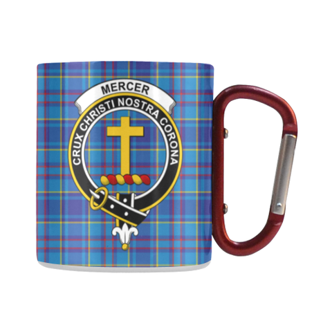 Mercer Modern Tartan Mug Classic Insulated - Clan Badge | scottishclans.co