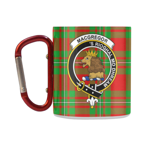 Image of Macgregor Modern Tartan Mug Classic Insulated - Clan Badge K7