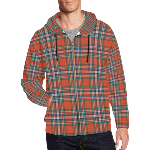 MacFarlane Ancient Tartan Zipped Hoodie | Special Custom Products