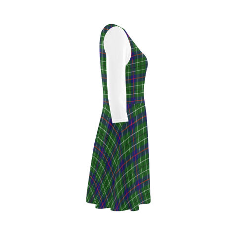 Duncan Modern Tartan 3/4 Sleeve Sundress | Exclusive Over 500 Clans