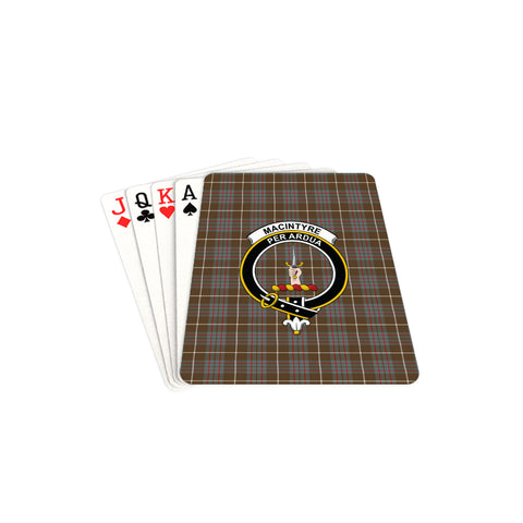MacIntyre Hunting Weathered Tartan Clan Badge Playing Card TH8