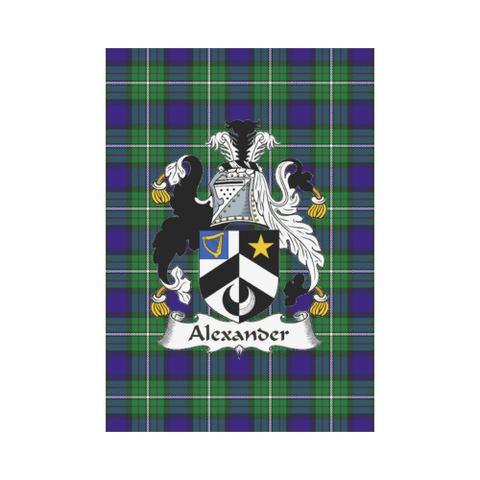 Alexander Tartan Flag Clan Badge K7