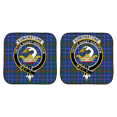 Edmonstone Clan Crest Tartan Scotland Car Sun Shade 2pcs K7