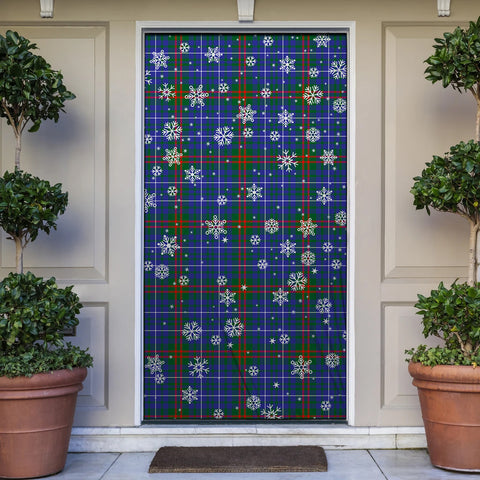 Edmonstone Christmas Tartan Door Sock Cover