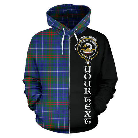 (Custom your text) Edmonstone Tartan Hoodie Half Of Me TH8