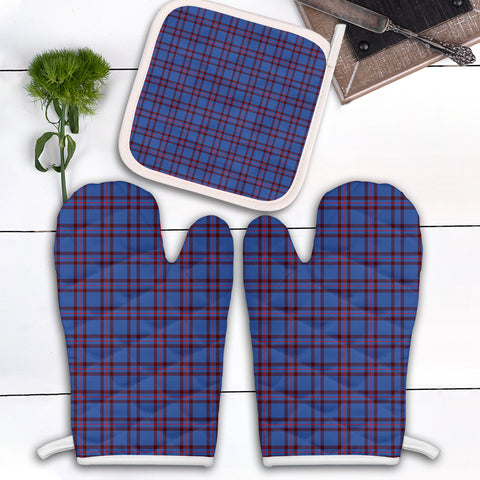 Image of Elliot Modern Clan Tartan Scotland Oven Mitt And Pot-Holder (Set Of Two)