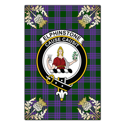 Garden Flag Elphinstone Clan Crest Gold Thistle New