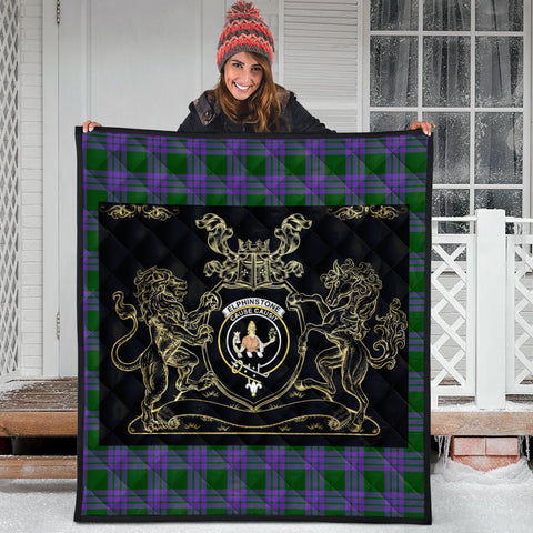 Elphinstone Clan Royal Lion and Horse Premium Quilt