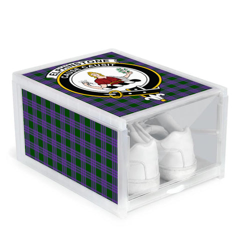 Elphinstone Clan Crest Tartan Scottish Shoe Organizers