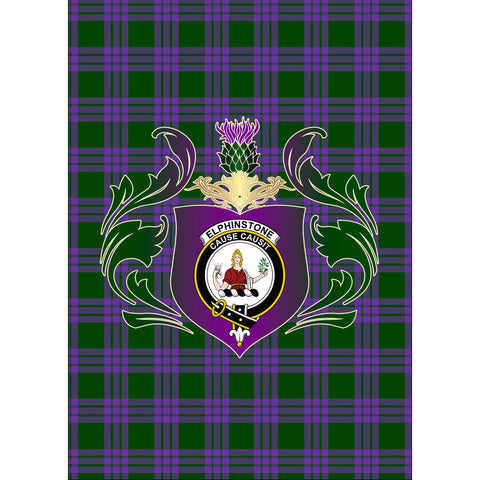 Elphinstone Clan Garden Flag Royal Thistle Of Clan Badge