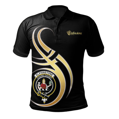 Elphinstone Clan Believe In Me Polo Shirt - All Black Version