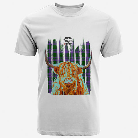 Elphinstone Clan Unisex T-Shirt Custom Highland Cow