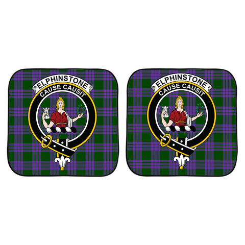 Elphinstone Clan Crest Tartan Scotland Car Sun Shade 2pcs K7