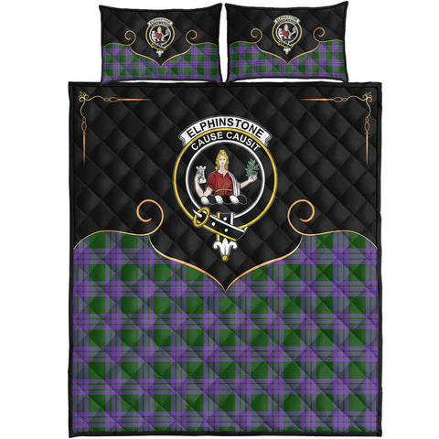 Elphinstone Clan Cherish the Badge Quilt Bed Set