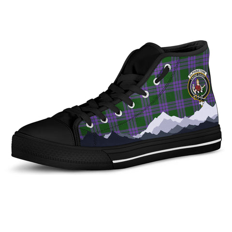 Elphinstone Clan Women High Top Shoes Custom Highland Cow