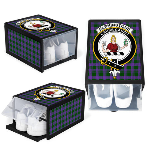 Elphinstone Clan Crest Tartan Scottish Shoe Organizers K9