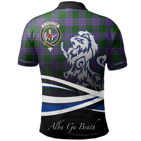 Image of Elphinstone Polo Shirts Tartan Crest Scotland Lion A30