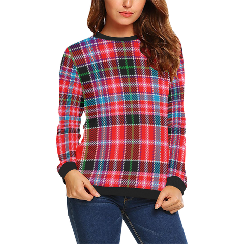 Image of Aberdeen District Tartan Crewneck Sweatshirt TH8