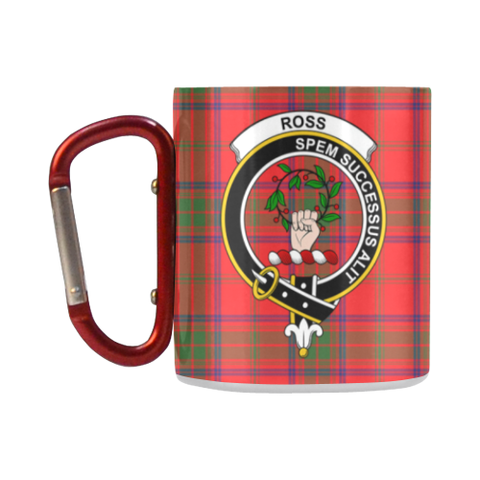 Ross Modern Tartan Mug Classic Insulated - Clan Badge K7