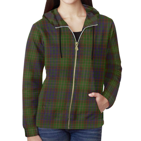 Cunningham Hunting Modern Tartan Zipped Hoodie | Special Custom Products