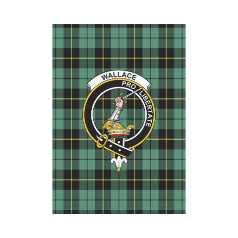 Wallace Hunting Ancient Tartan Flag Clan Badge | Scottishclans.co