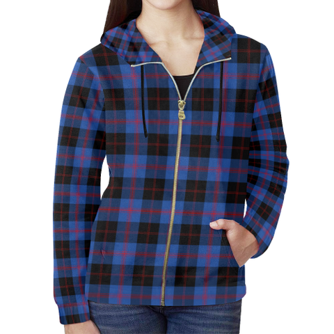 Angus Modern Tartan Zipped Hoodie | Special Custom Products