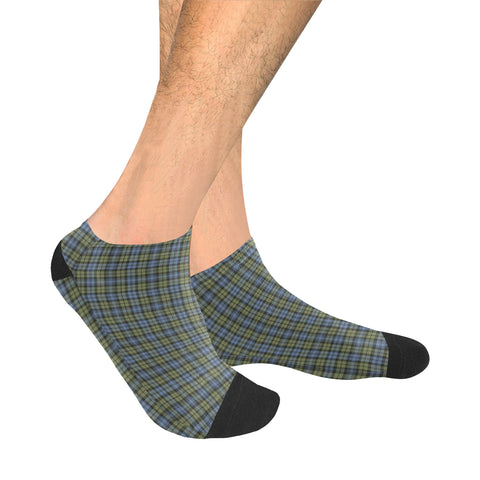 Campbell Faded Tartan Ankle Socks | scottishclans.co