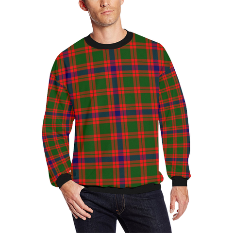 Image of Skene Modern Tartan Crewneck Sweatshirt TH8