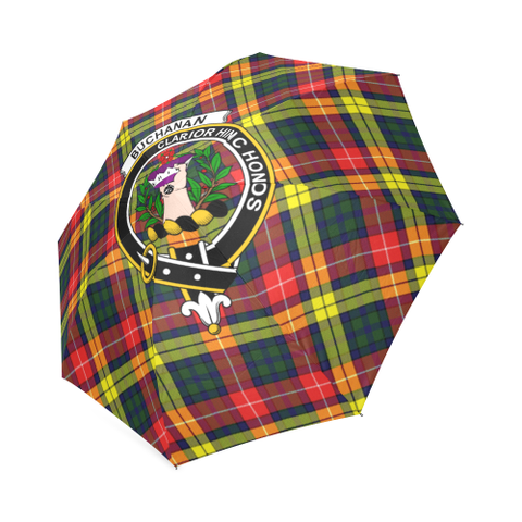 Image of Buchanan Modern Crest Tartan Umbrella TH8