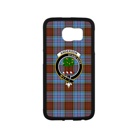 Anderson Tartan Clan Badge Rubber Phone Case TH8