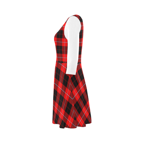 Image of Cunningham Modern Tartan 3/4 Sleeve Sundress | Exclusive Over 500 Clans