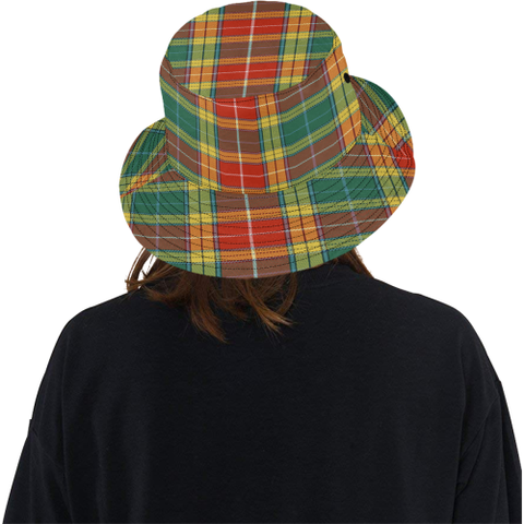 Buchanan Old Sett Tartan Bucket Hat for Women and Men K7